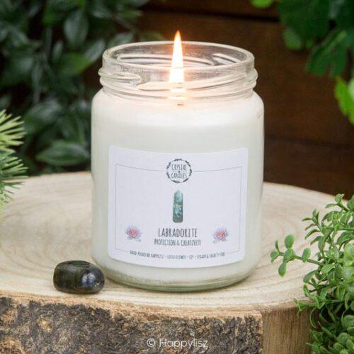 Edelsteenkaars Labradoriet - Crystal Candles - Happylisz